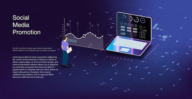 Internetbank en onmiddellijke betaling seo-optimalisatie voor doelzoekproces. illustratie isometrische stijl. online betalen, elektronische factuurbetalingsmelding.