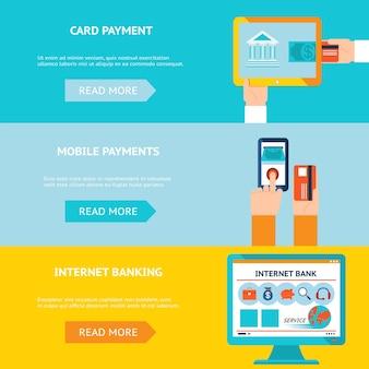 Internetbankieren, kaart- en mobiele betalingen. contactloze internettransactie.