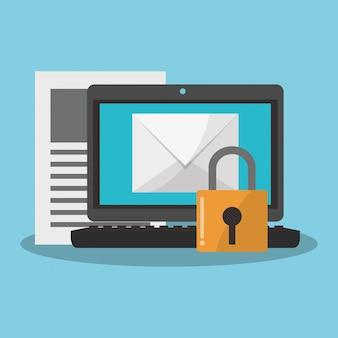 Internetbeveiliging gerelateerde pictogrammen