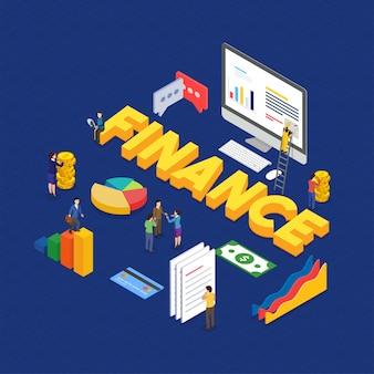 Internetgeld, betalingszekerheid en groei concept. fintech (financiële technologie) achtergrond.