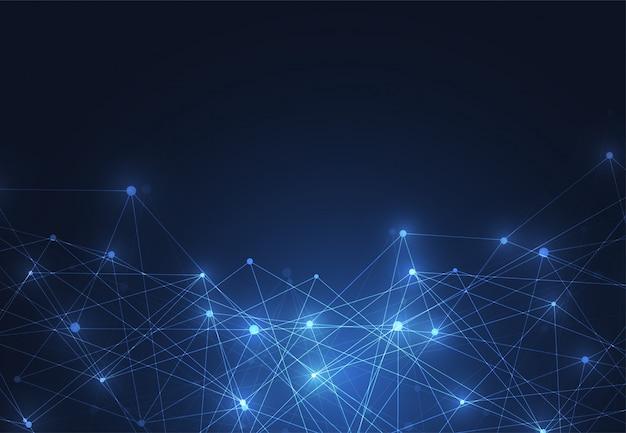Internetverbinding, abstract gevoel voor wetenschap