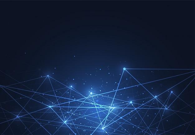 Internetverbinding, abstract gevoel voor wetenschapsachtergrond