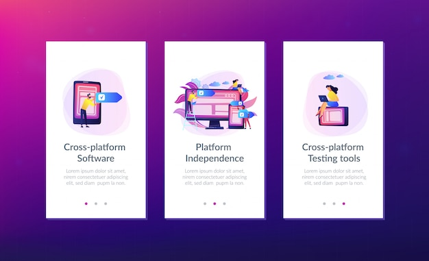 Interplatformsjabloon voor software voor meerdere platforms.