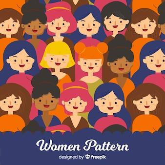 Interraciaal vrouwenpatroon