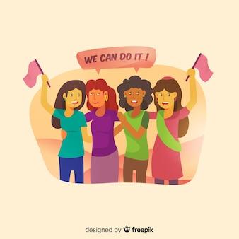 Interracial groep vrouwenachtergrond
