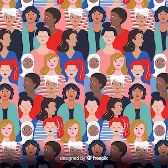Interracial groep vrouwenpatroon