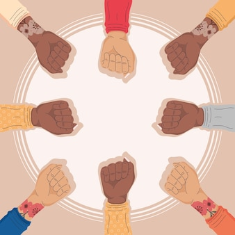 Interraciale activistenhanden