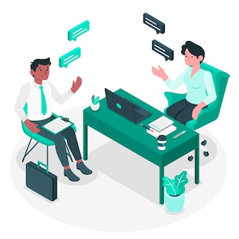 Interview concept illustratie