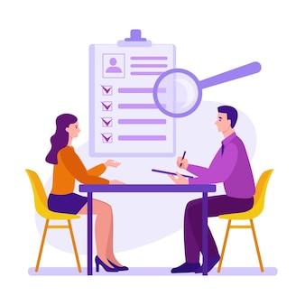 Interview sollicitatieproces kandidatenselectie wervings- en arbeidsbemiddelingsdienst