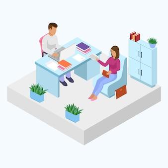 Interview werkgever met werkzoekende