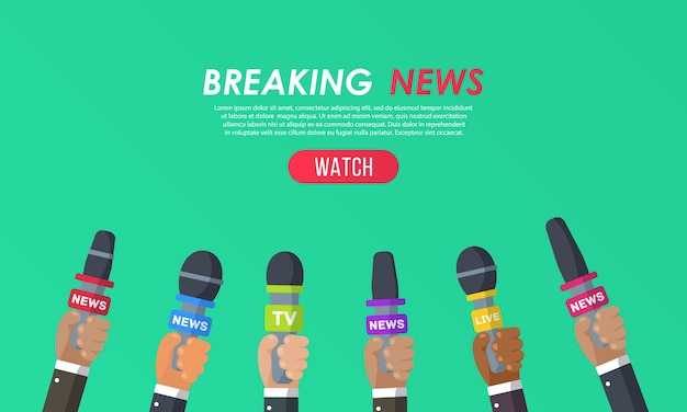 Interviews zijn journalisten van nieuwszenders en radiostations