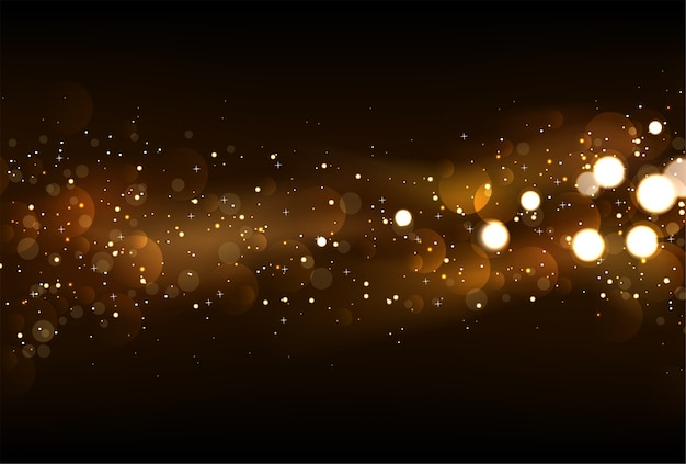 Intreepupil glitter licht achtergrond in donkere kleuren van goud en zwart.