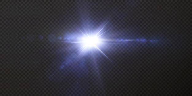 Introductie van de effecten van neonlichtsets Premium Vector