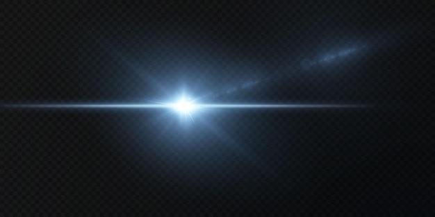 Introductie van de effecten van vectorneonlichtsets die blauw gloeien