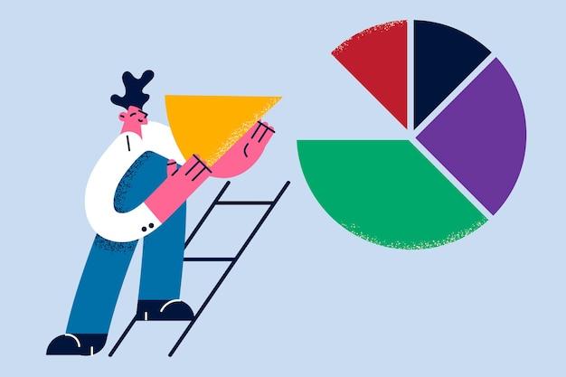 Investeerder financieel planner concept