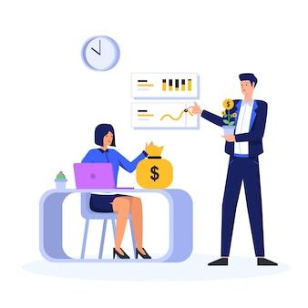 Investering concept illustratie