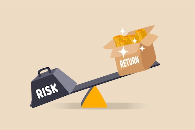 Investering hoog risico hoog verwacht rendement illustratie
