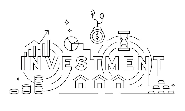 Investering platte lijn ontwerp