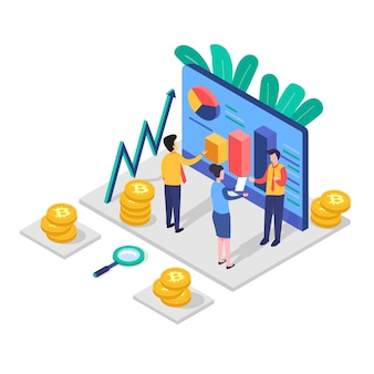 Investeringen analyse concept