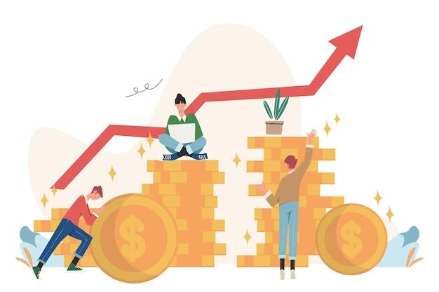 Investeringsbeheermaatschappij houdt zich bezig met de gezamenlijke constructie en het cultiveren van contante winsten