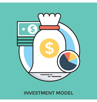Investeringsmodel platte vector pictogram