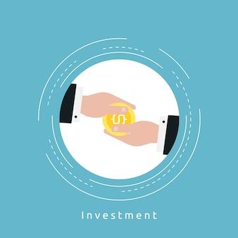 Investment achtergrond ontwerp