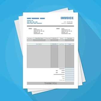 Invullen papieren factuurformulier. belasting. bon. bill.
