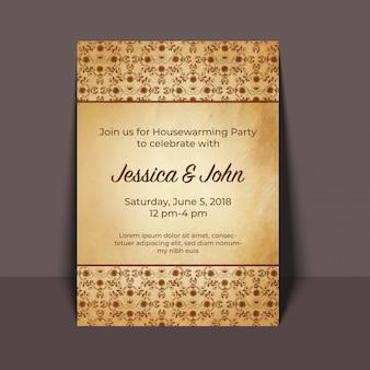 Inwijdingsfeest partij uitnodigingskaart ontwerp
