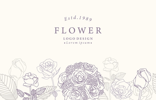 Inzameling van bloemachtergrond die met lavendel, roos wordt geplaatst.