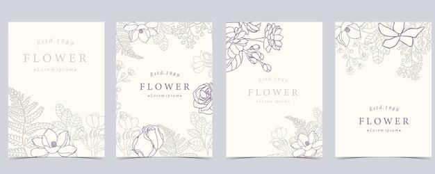 Inzameling van bloemachtergrond die met roos wordt geplaatst