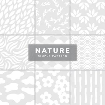 Inzameling van eenvoudige patroonillustratie
