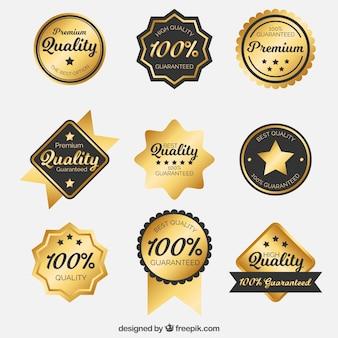 Inzameling van elegante stickers voor exclusieve producten