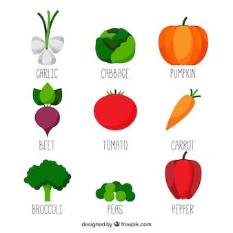 Inzameling van groenten
