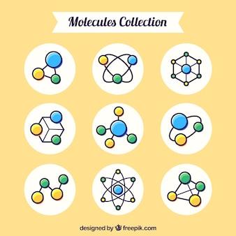 Inzameling van handgetekend molecuul
