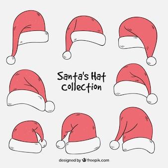 Inzameling van handgetekende kerstmutsjes