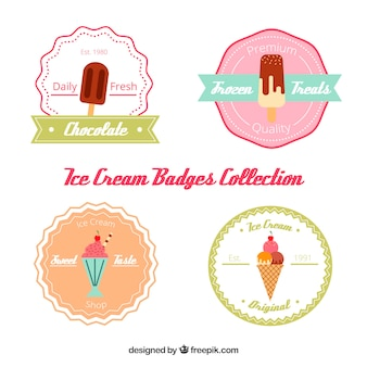 Inzameling van ijs stickers