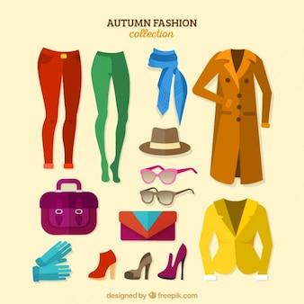 Inzameling van kleding en accessoires voor de herfst