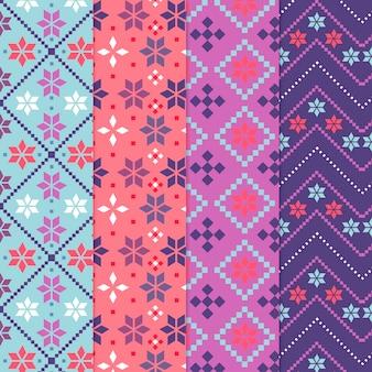 Inzameling van kleurrijk songketpatroon