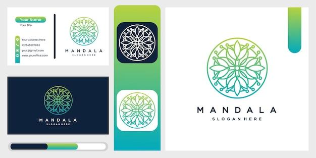 Inzameling van mandala met decoratieve patronen van bloemen en bladeren.
