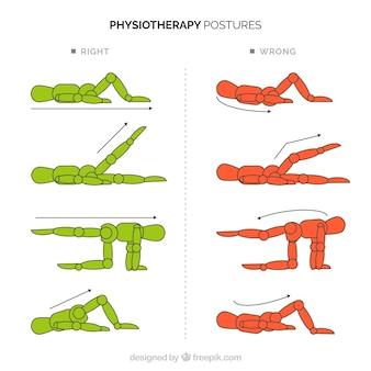 Inzameling van posturale correcties