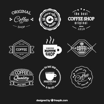Inzameling van retro cafetaria stickers