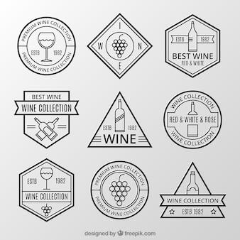 Inzameling van retro wijnstickers