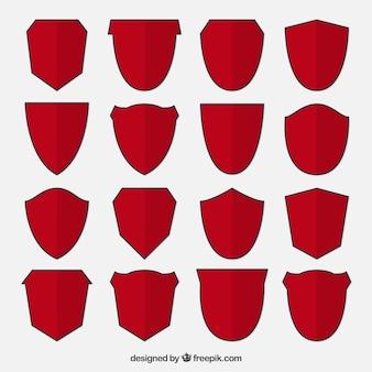 Inzameling van rode schilden