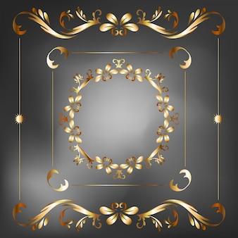 Inzamelingsreeks van de vectorillustratie van het etiketornament