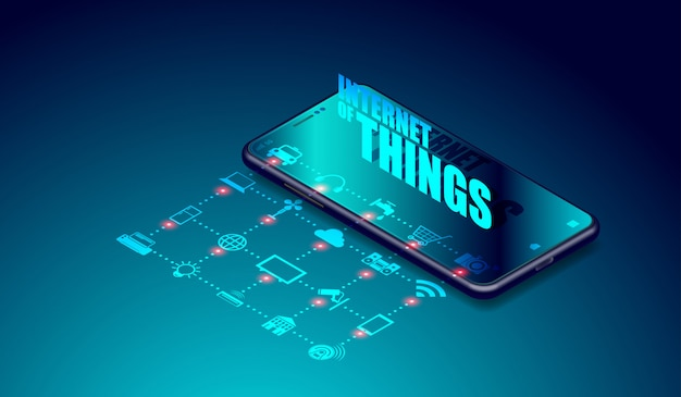Iot internet of things over smartphone-applicaties