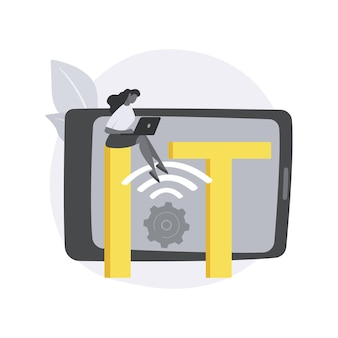 Iot ontwikkeling abstract concept illustratie.