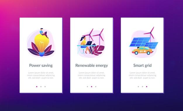 Iot, smart city en systeemmodellering app interface sjabloon.