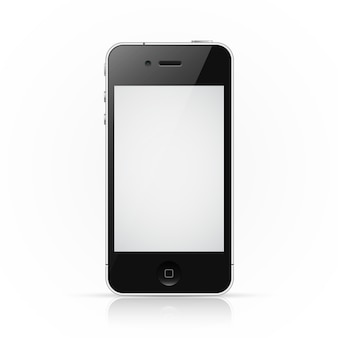Iphone-smartphone met leeg scherm