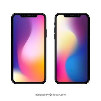 Iphone x met gradiëntbehang