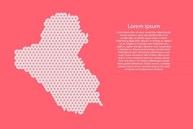 Irak kaart abstract schema met witte driehoeken